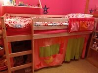 KIDS MID SLEEPER BED FOR SALE £90 Collection only