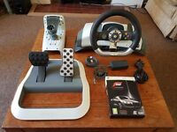 Microsoft Xbox 360 Official Wireless Steering Wheel and Pedals