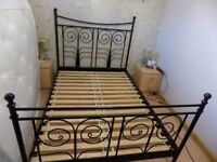 DOUBLE BED FRAME IKEA NORESUND