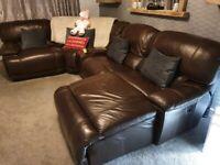 ** Sale pending ** Large Leather Corner Sofa