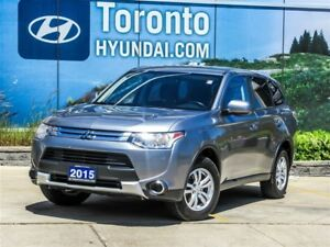 2015 Mitsubishi Outlander ES, 4WD, BLUETOOTH, *NO ACCIDENTS*