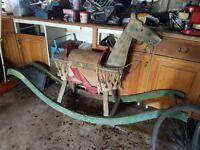 Antique rocking horse 1920's beautiful item