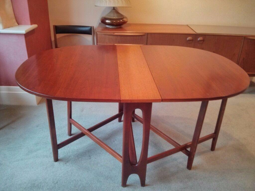 G Plan Drop Leaf Dining Table Vintage Retro 1970s Teak