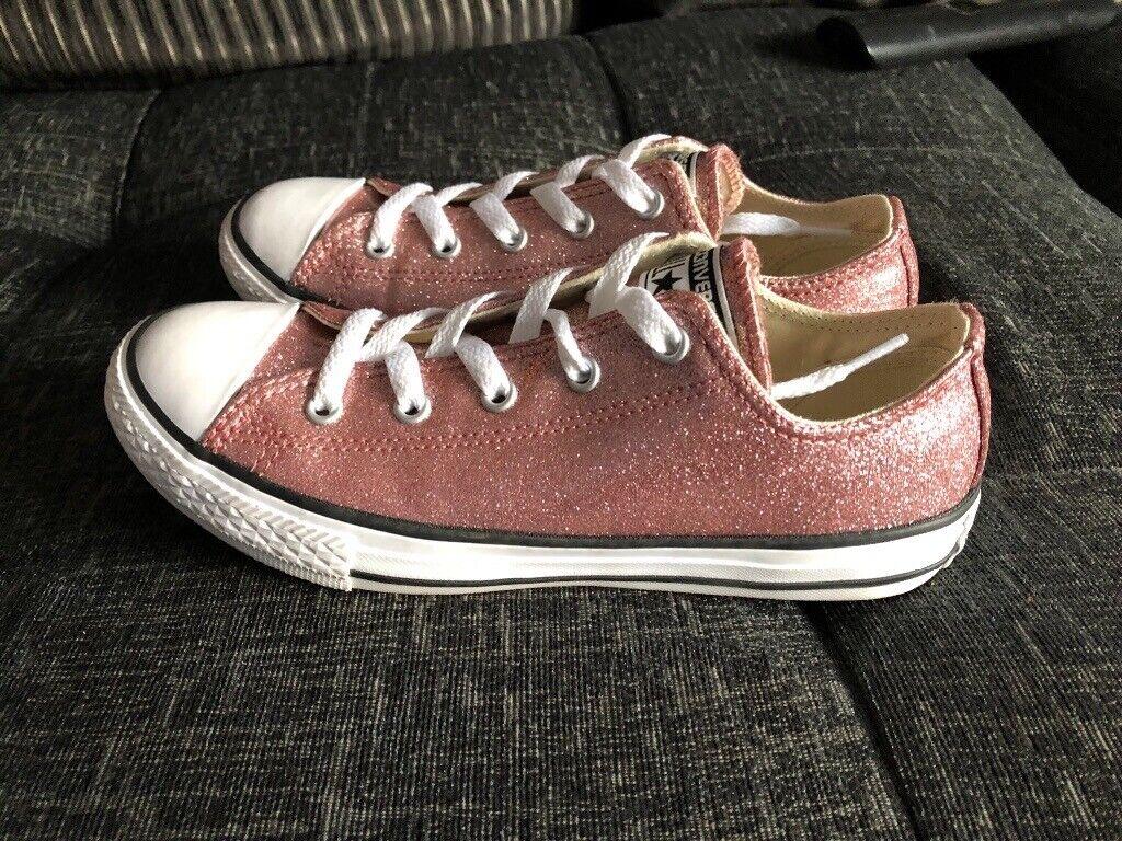 2d4ba7e0026 Converse girls women s pink glitter