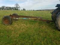Old tractor tipping trailer chassis ideal for advertising sign or water bowser