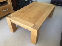 Beautiful Solid Oak Coffee Table