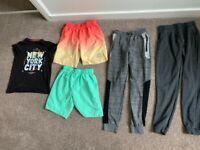 Age 12-13 bundle T-shirt, 2 swim trunks, 2 joggy bottoms (5 items)