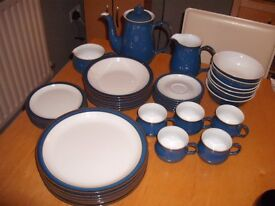 Denby Royal Blue Dinner Service and tea service, 38 items, Stoneware