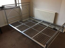 Second hand metal double bed frame