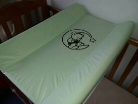 Top cot changing table
