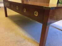 Bradley campaign style Large coffee table