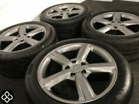"GENUINE AUDI 20"" ALLOY WHEELS & TYRES- 5 X 112 -275 45 20 - GLOSS GRAPHITE - (AUDI,VW) Wheel Smart"