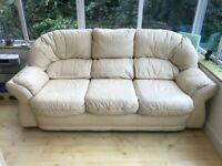 Quality Leather Sofa-Money will go to BHF Charity