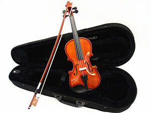 Student Model - Small Size 1/10 Solid Wood Violin +Bow+Rosin+Case+Free Gift