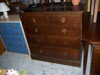 Dark wood chest of drawers at Cambridge Re-Use (cambridge reuse)