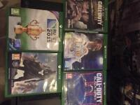 Xbox one 2 controllers + 5 games