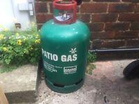 Empty 13kg patio gas bottle