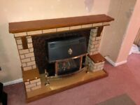 Gas fire and surrond