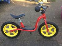 Puky balance bike with rear brake