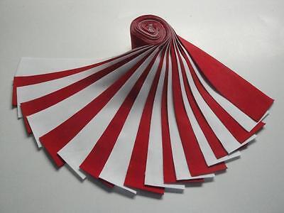 Jelly Roll Kona Cotton  Red   White  20 2 1 2  X Wof Strips Kaufman