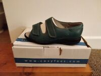 Cosyfeet Relax Flats - Size 4 - Colour: Teal