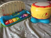 Piano and drum toy
