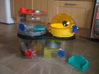 Rotastak hamster cage and loads of accessories