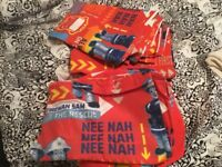 Fireman Sam quiltcover and a pair of curtains