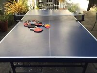 Stiga Indoor Table Tennis Table plus Eight Bats