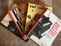 Piano Music Books x 5