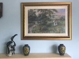 """Print """"Walk in the Country"""" H23in/59cm W32in/81cm Excellent condition"""
