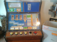 Super nudge gambler electro-mechanical Parts only so no license needed fruit machine