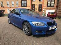 BMW 320d 2013 MSPORT AUTO INDIVIDUAL LCI CHEAP BMW PERFORMANCE ESTORIL BLUE RARE E92 E93 325 330