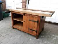 Vintage school woodwork bench