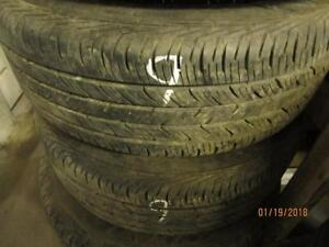 225/60R18 2 ONLY USED CONTINENTAL ALL SEASON TIRES