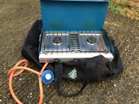 Campingaz 2 ring gas cooker