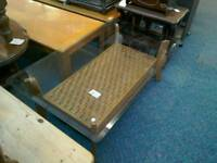 Glass topped coffee table #29177 £35