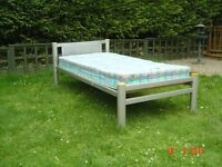 Metal Framed Single Bed with Mattress if Required. Can Deliver.