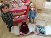 Dolls & cot set - Design A Friend