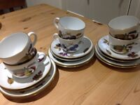 Royal Worcester Evesham (cups, saucers and side plates)