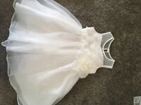 White/ivory flower girl dress