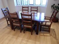 Fantastic dinning table 2 carver chairs and 4 table chairs