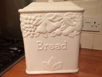 M&S White Fruit Embossed Bread Bin