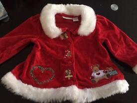 First impression 3-6 Santa cardigan