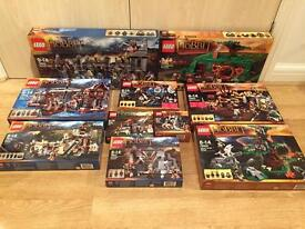 Collection of brand new, sealed Lego Hobbit sets, including The Unexpected Gathering.