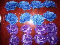 Artificial Roses x 80 purple flower heads
