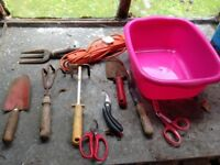 Garden hand tools selection