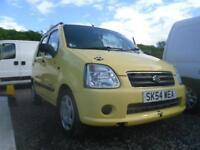 SUZUKI WAGON R 1.3 VVT 16V GL 5dr very low mileage Yellow Pearl...an eye catcher Mot April 2004