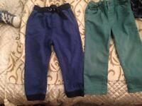12 pairs of jeans and joggers for boy age 2-3 and 3-4 yrs