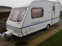 Swift Lifestyle 450 2 berth caravan. Year 2000. 1 owner with remote caravan mover. Clean dry caravan
